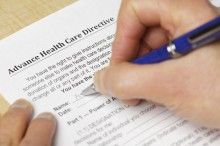 Filling in an advance health care directive